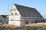 Neubauten werden für einen schnelleren Einzug mit Bautrocknern getrocknet